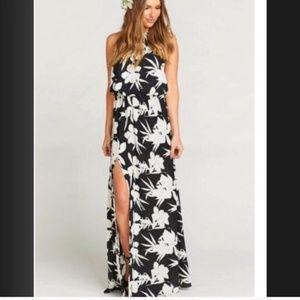 Show Me Your Mumu Heather Halter Maxi Dress NWT